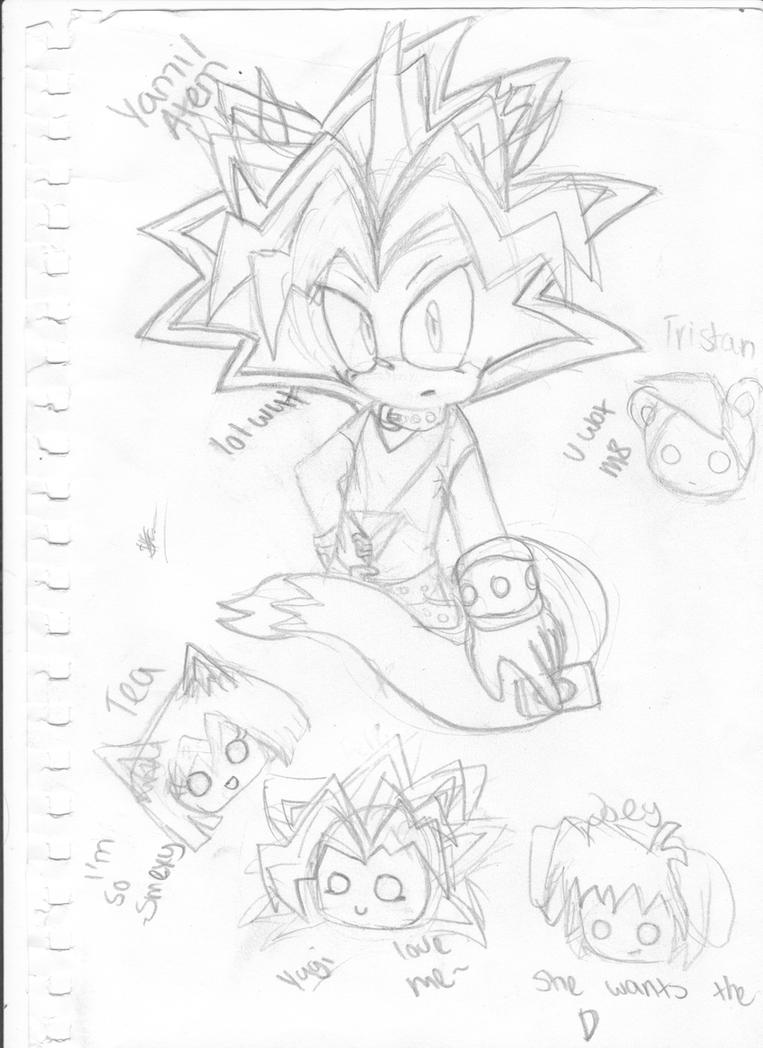 Yami/Atem the cat and friends by CallMeSony