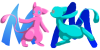 Mew Icons by Zeldeon
