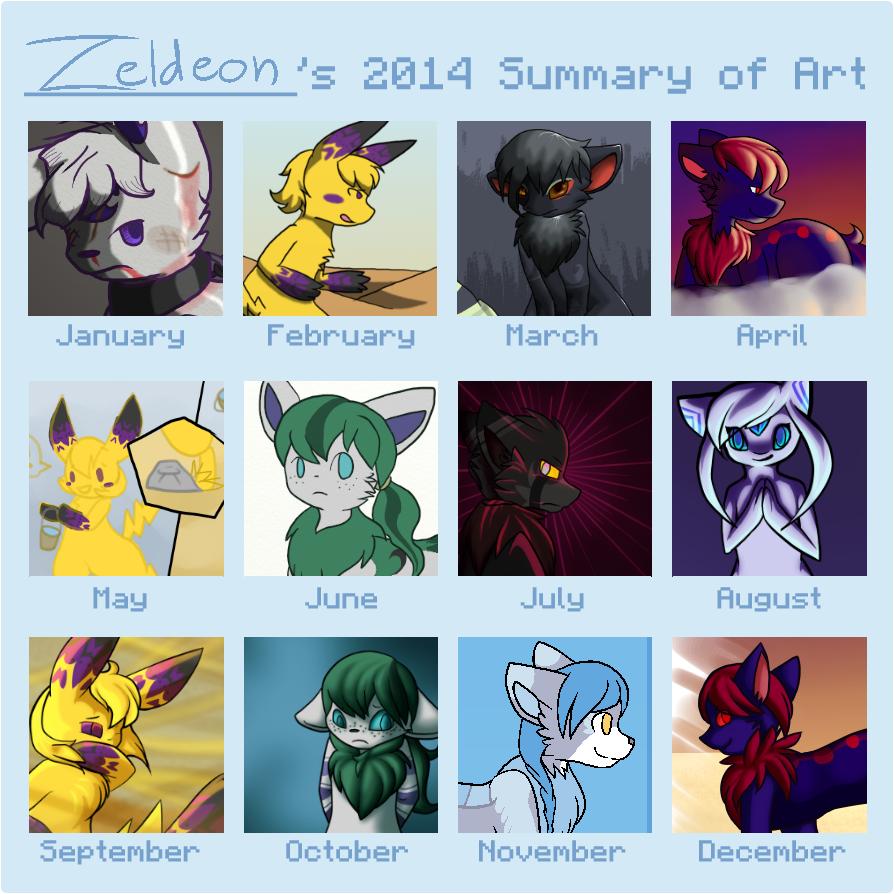 2014 Summary of Art by Zeldeon