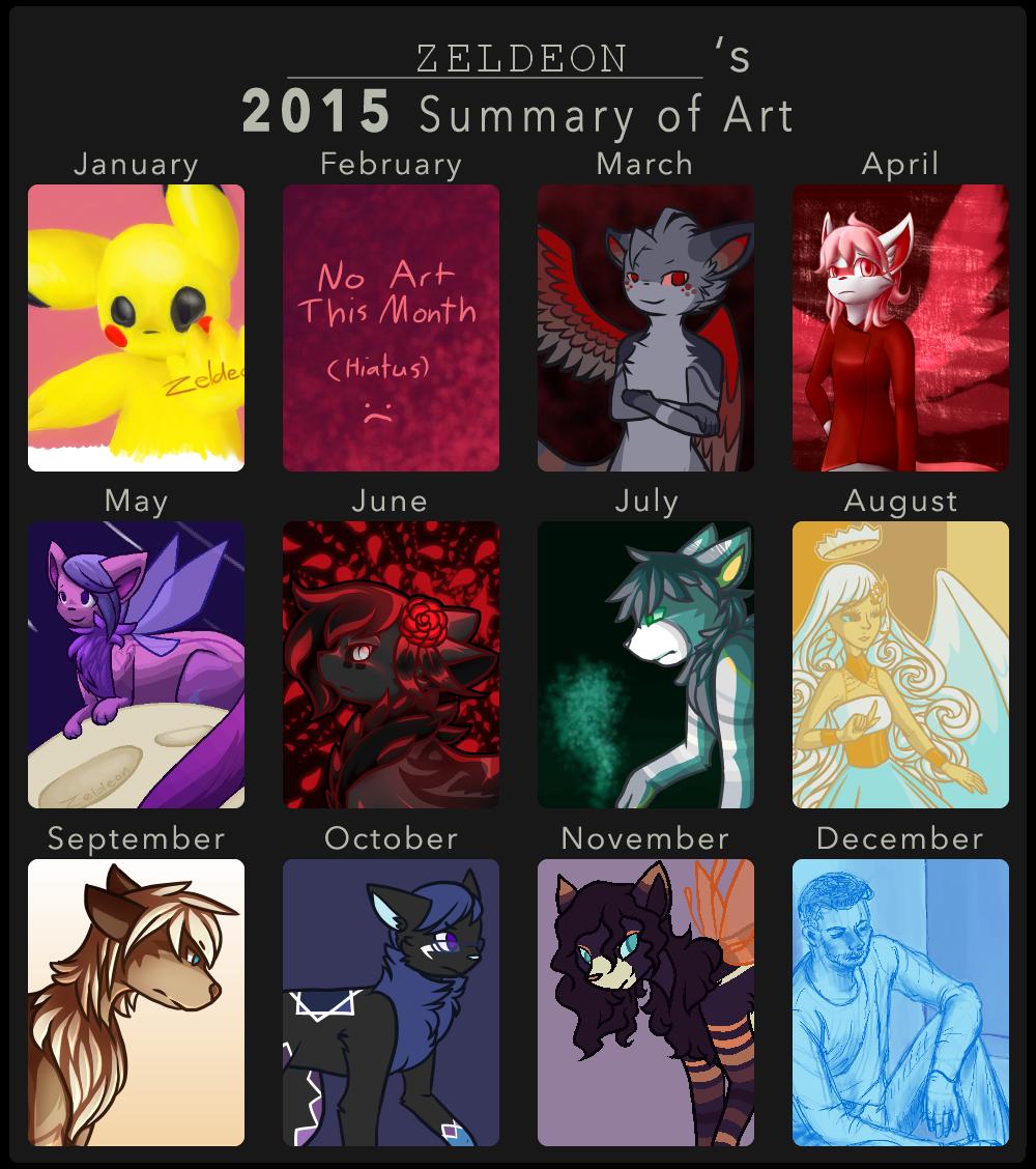 2015 Summary of Art by Zeldeon