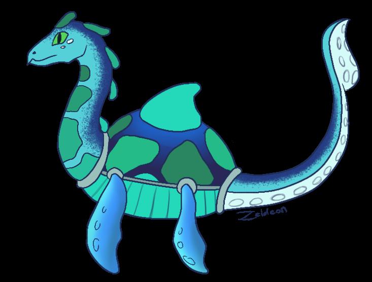 Sea Glass Sea Monster by Zeldeon