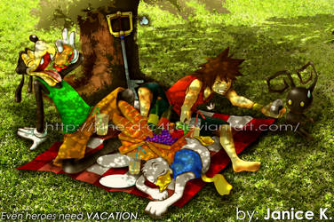 Heroes on Vacation by J4ne-d-C4t