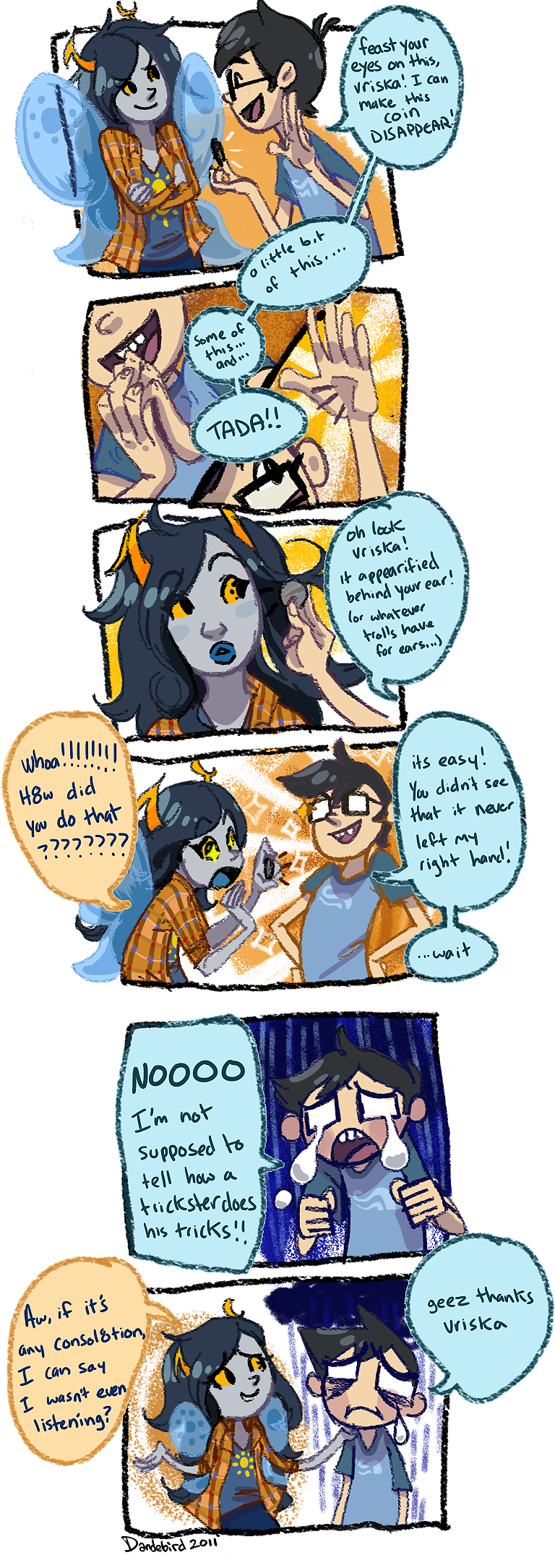 trickster's tricks by Dandebird
