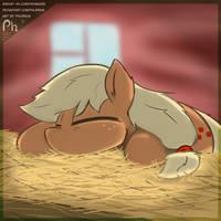 AppleJack ate and sleeps