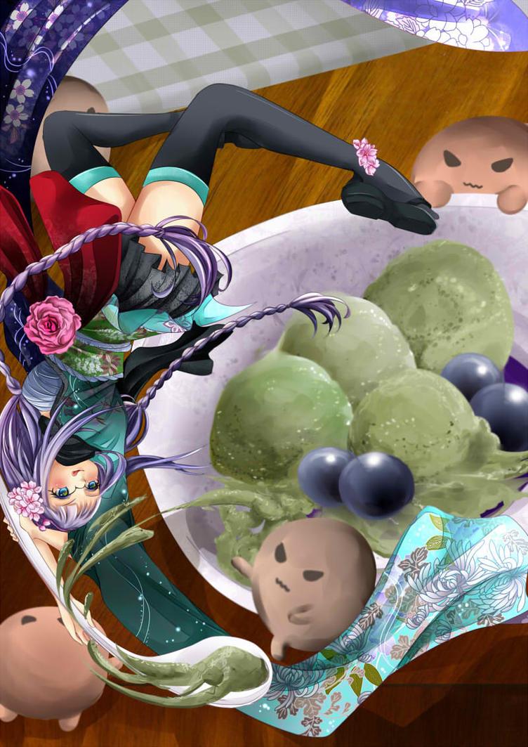 First Taste, Matcha Ice Cream by Yukinechii