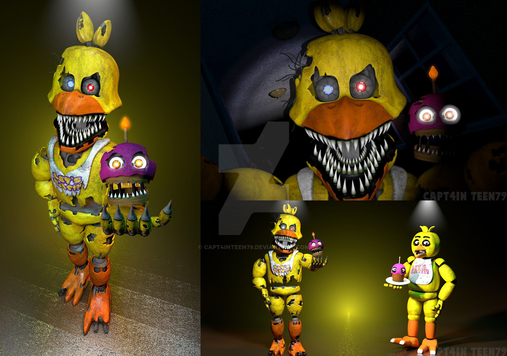 Nightmare Chica Full Body By Capt4inTeen79 On DeviantArt