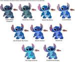 Stitch Franchise Colors (+Line Art In Description)