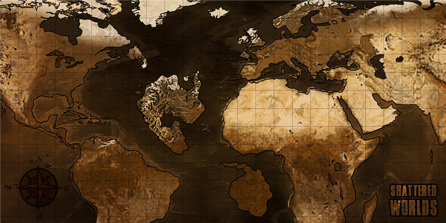 Shattered Worlds   World Map by CaptainTronny