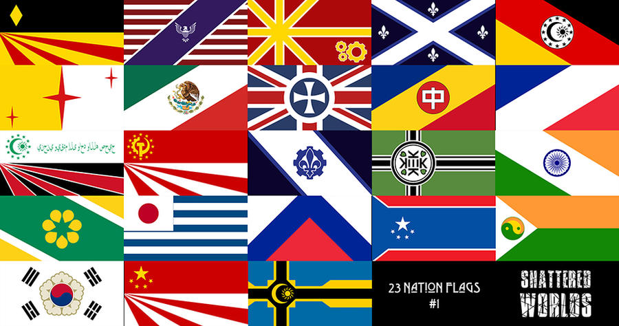 Shattered Worlds | Alternate Nation Flags #1 by CaptainTronny