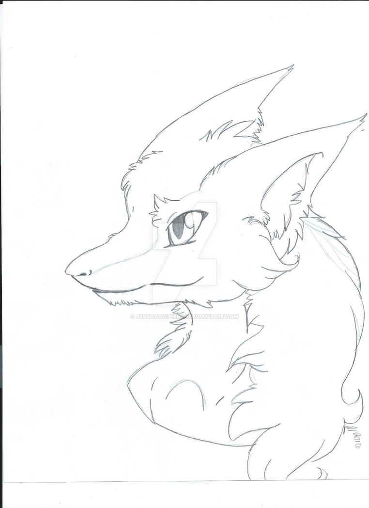 Sergal sketch by jessicaosteen96