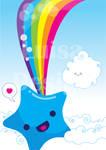 rainbow blue star