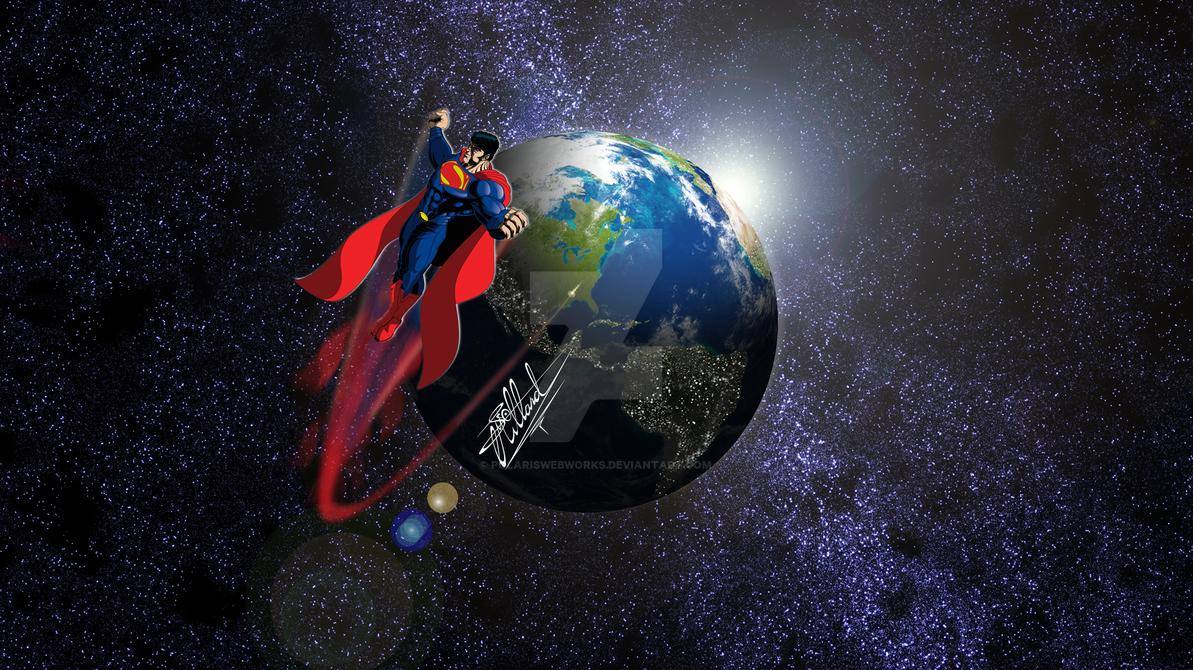 Superman Raster by polariswebworks