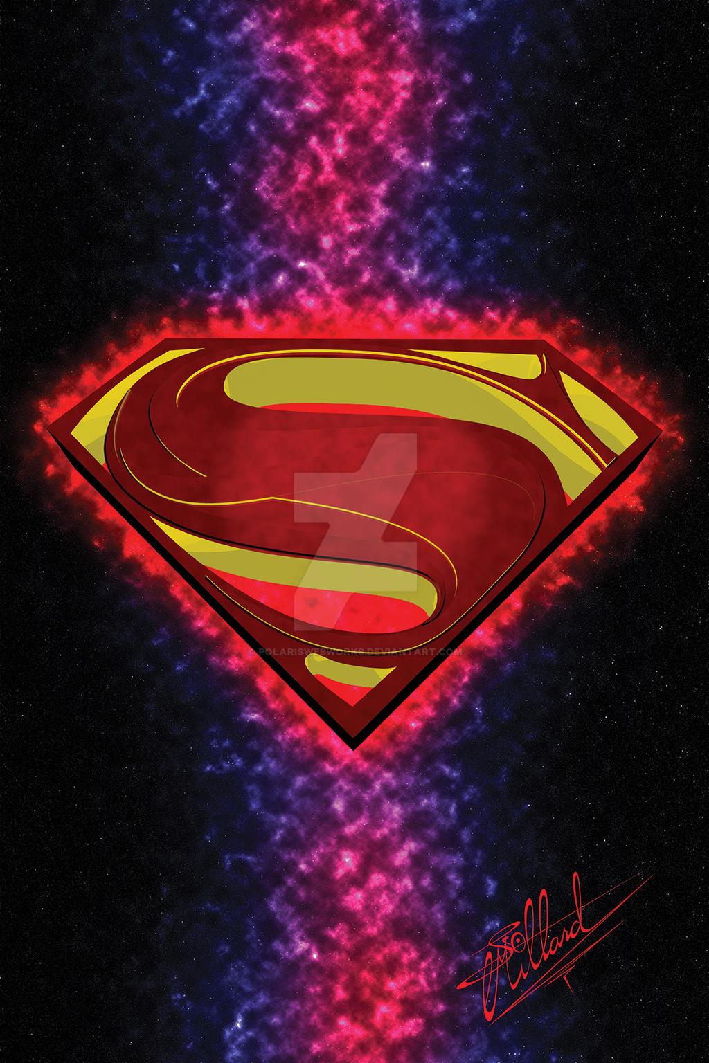 SupermanLogo Raster Polygonal by polariswebworks