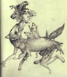 wolf vomit from my eyeballs by edelias