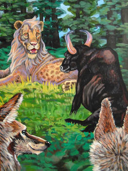 Panchatantra The Lion The Bull and Two Jackals