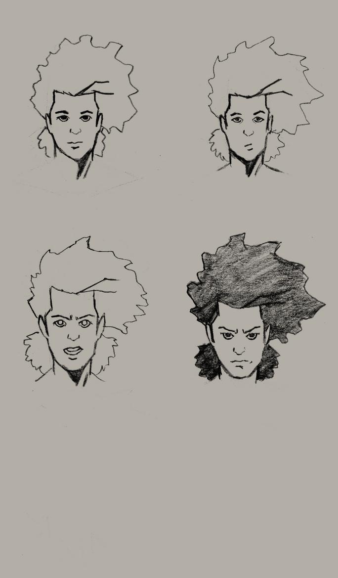 Meek Facial Study-WIP by grandimister