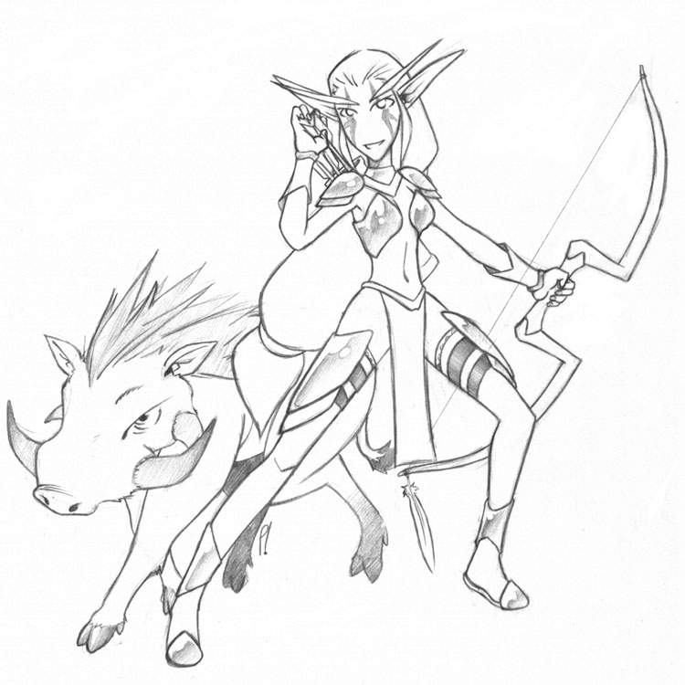 Drawn Elf Wow