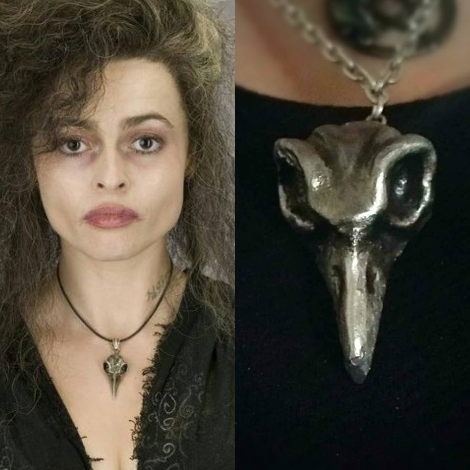 Bellatrix Lestrange Bird Skull Necklace by Lustuad