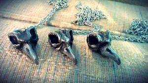 Bellatrix Lestrange Bird Skull Necklaces by Lustuad