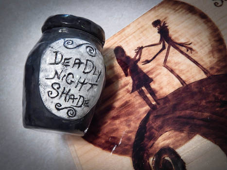 Small Deadly Nightshade Jar- FOR SALE