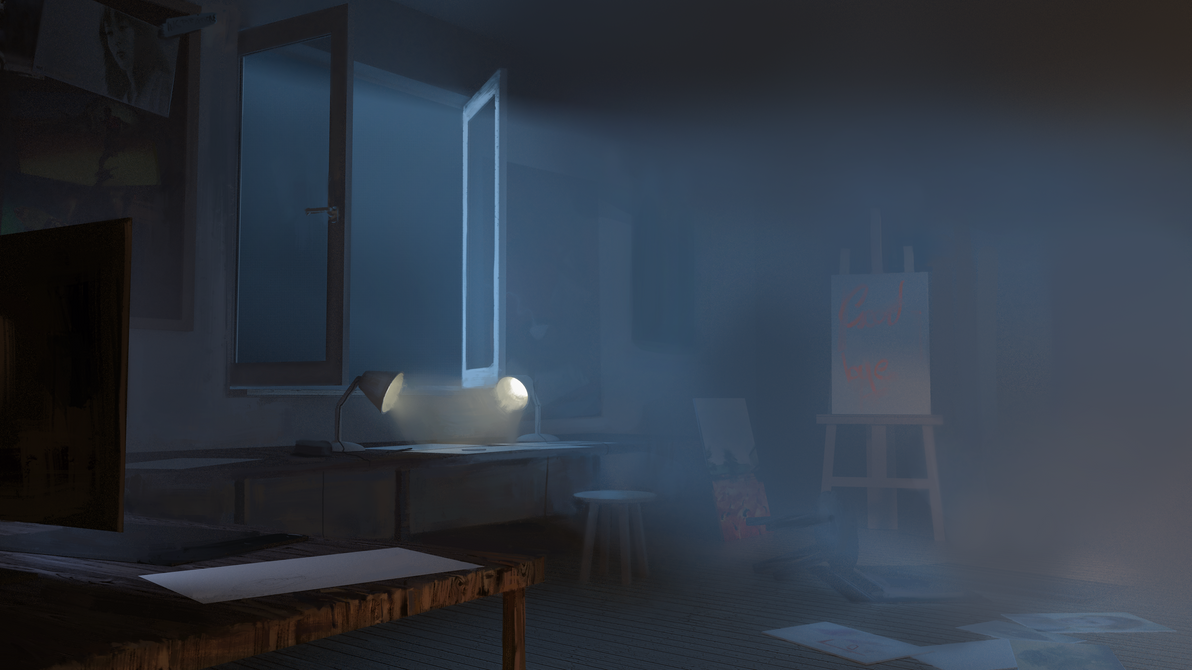 The Artist's Room by BlackSteelDrawing