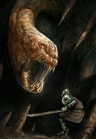 Cave worm illustration by VitoRafiie