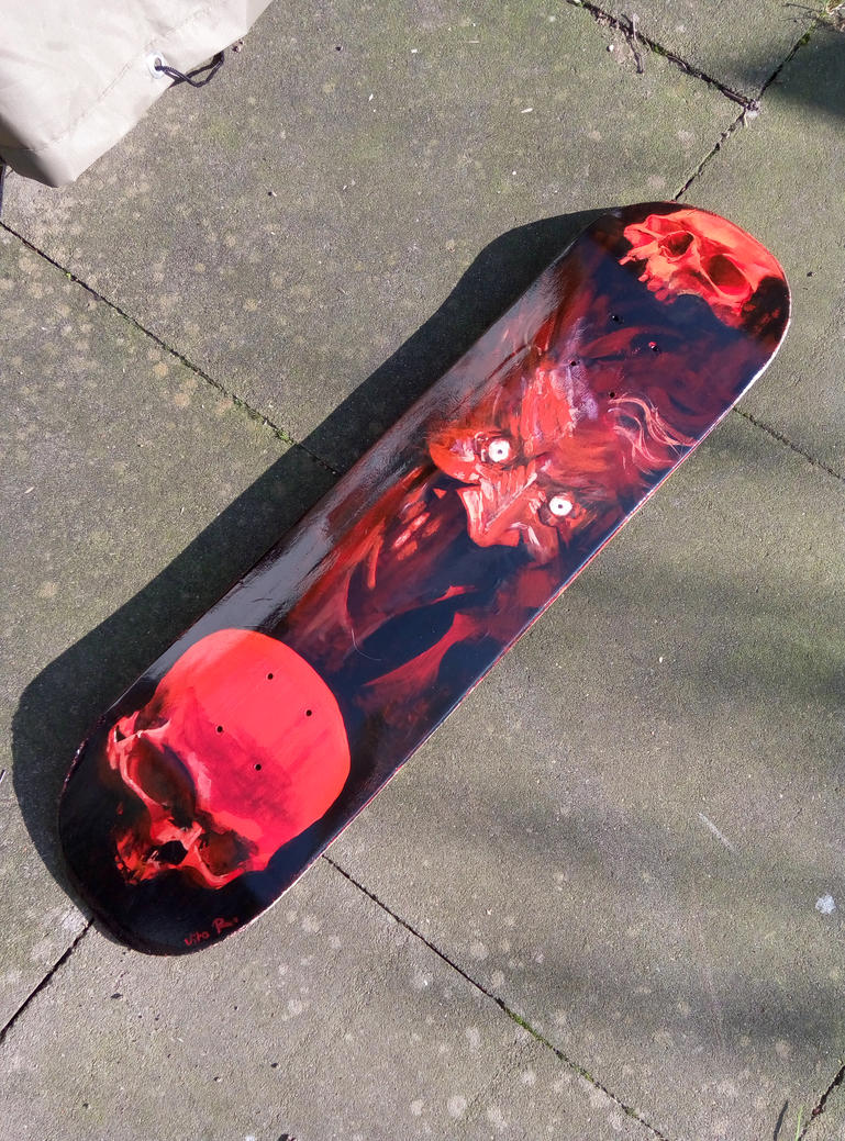 Handpainted Skateboard Deck by VitoRafiie