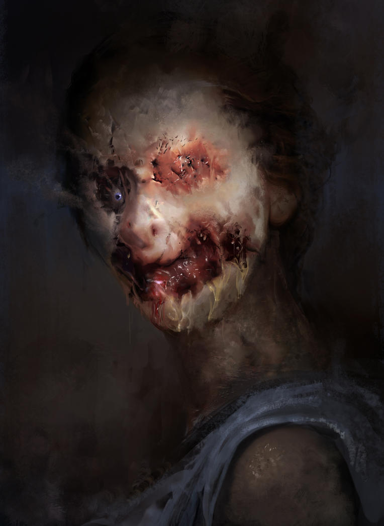 Zombie Woman Portrait by VitoRafiie