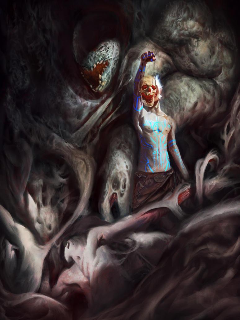 Necromancer illustration by VitoRafiie