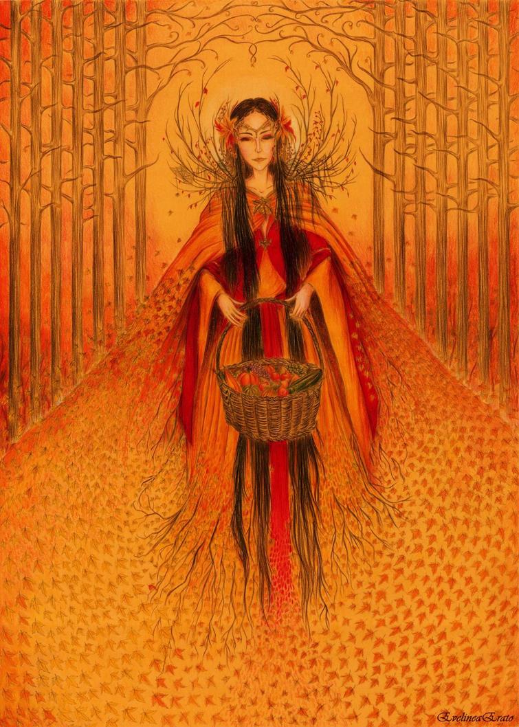 Idzie Jesien (Lady Autumn II) by EvelineaErato