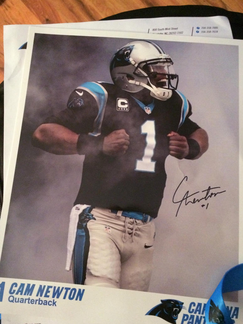 Cam Newton Autographed Photo by Maddster74