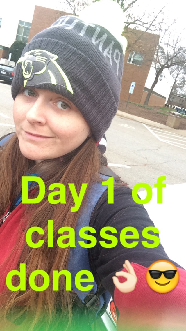 First Day of College Selfie by Maddster74