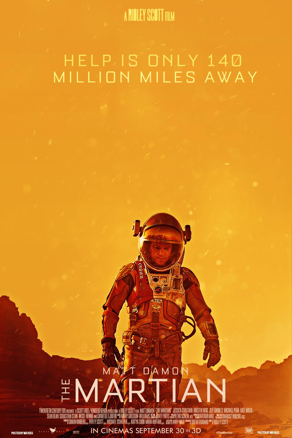 The Martian - Poster (2015) by MrDeks on DeviantArt