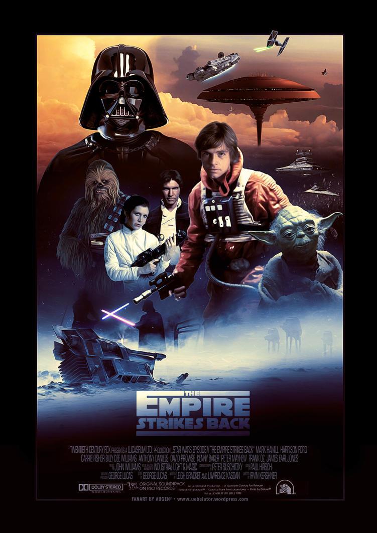 Empire strikes back movie poster