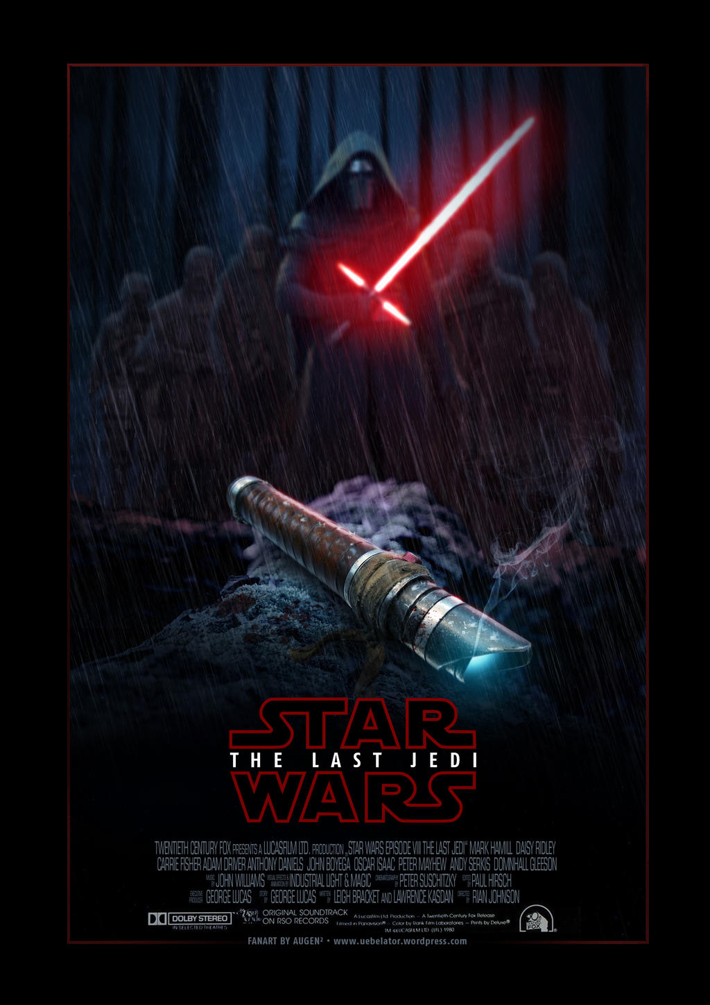 fanart: star wars poster - episode 8 the last jedi by uebelator on