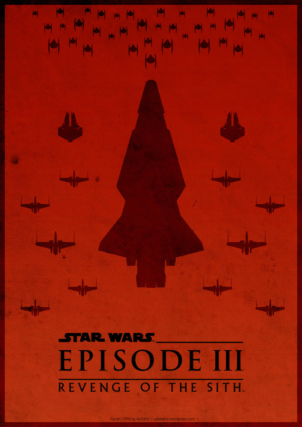 Star Wars Episode 3 Minimalist Fanart Poster By Uebelator On Deviantart
