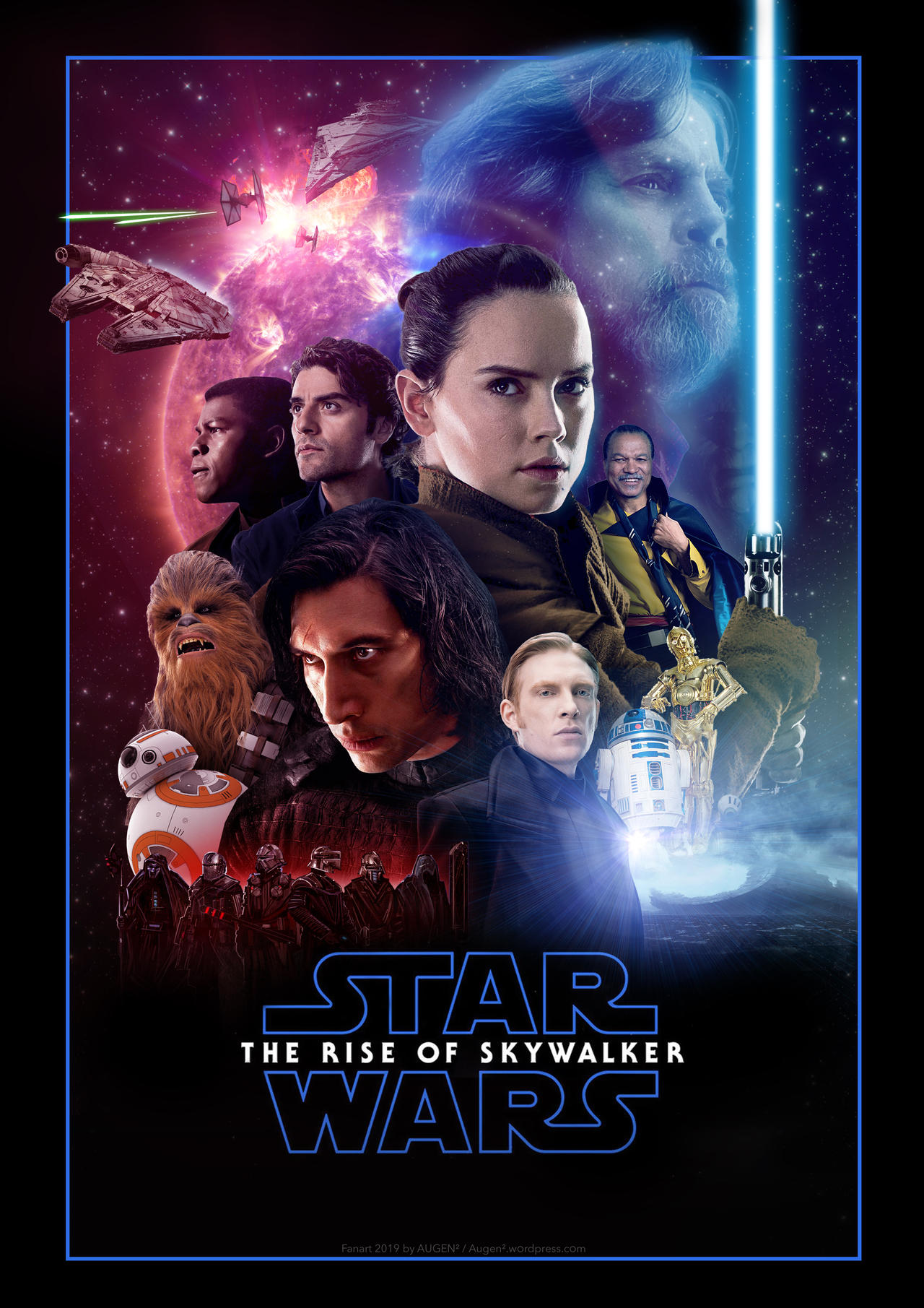 Star Wars The Rise Of Skywalker Fanart Poster By Uebelator On Deviantart
