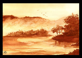 The Sepia Landscape by PellucidMind