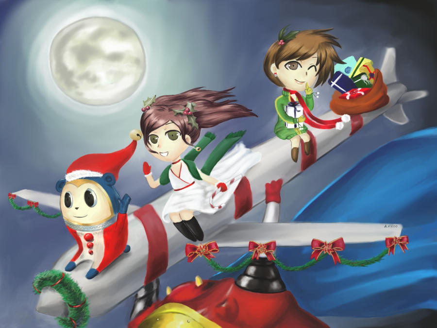 Persona 4 Christmas Card by chibipuff on DeviantArt