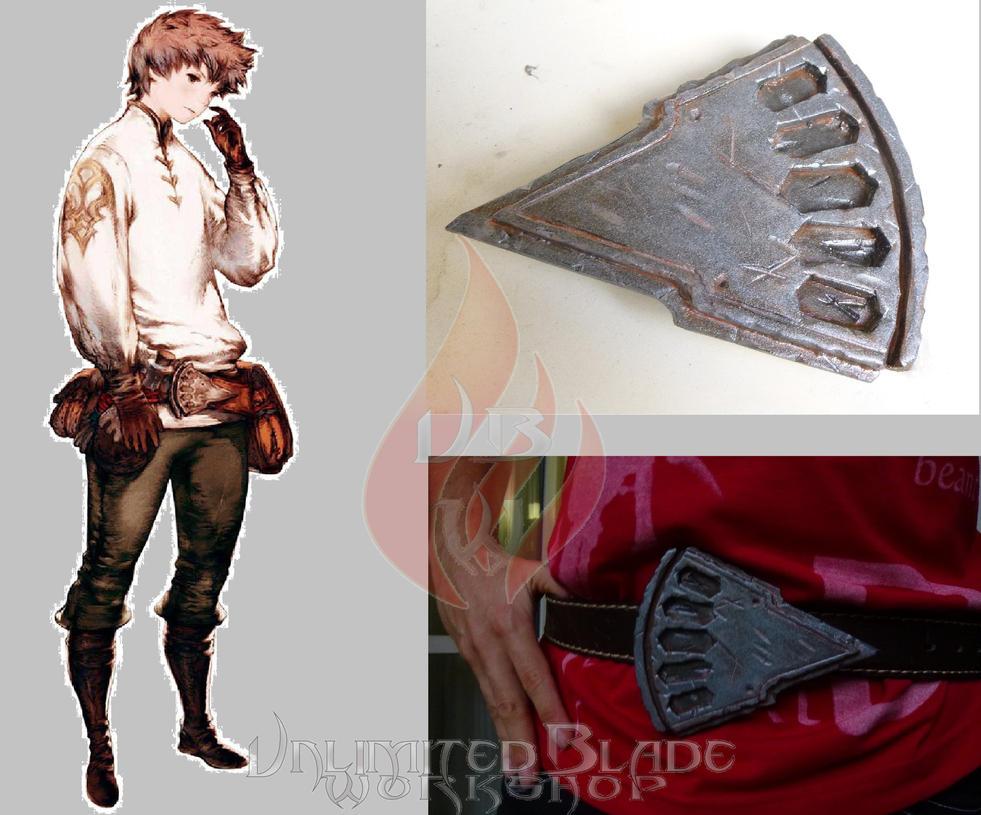 Tiz Arrior's buckle - Bravely Default by BlastFlame