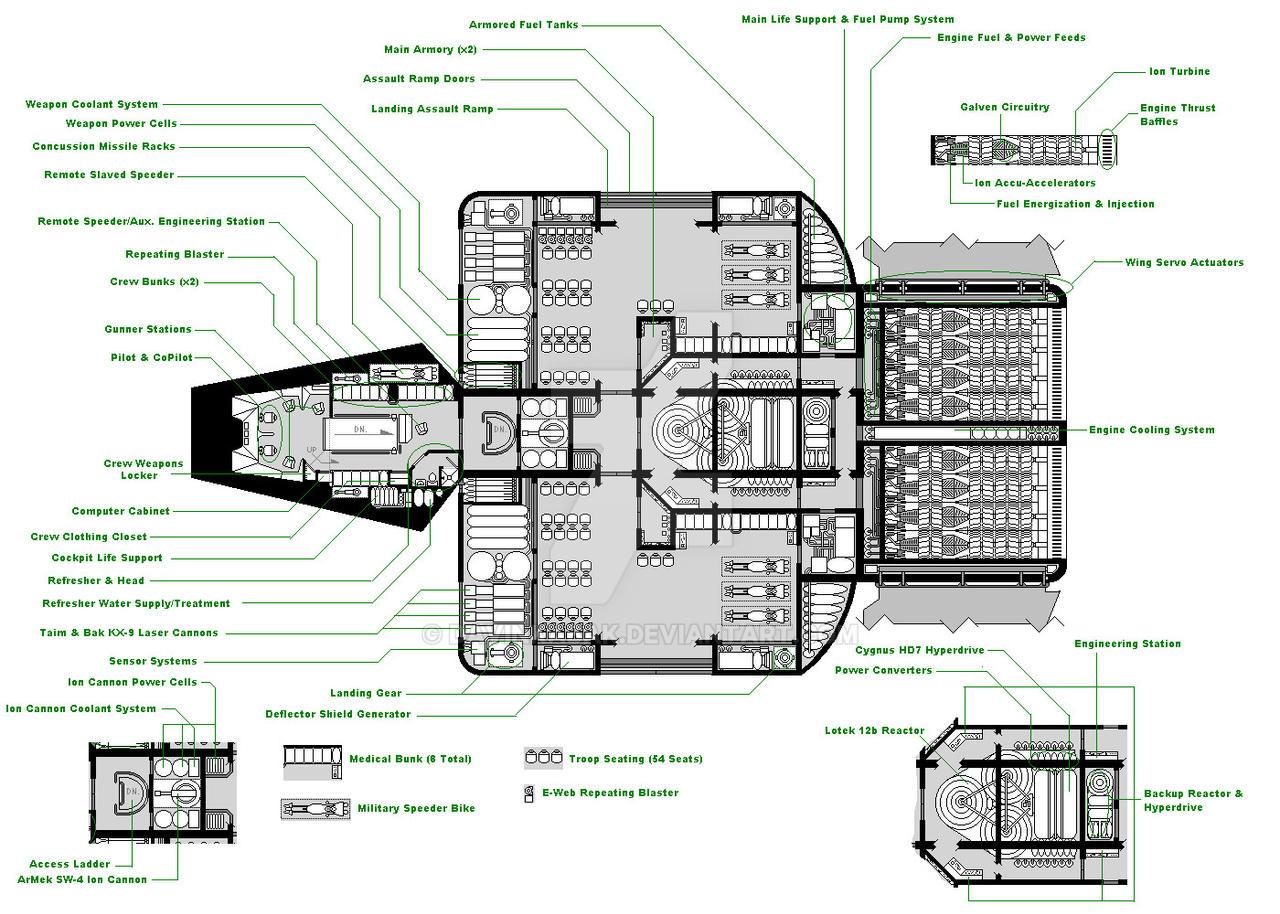 Star Wars Ship Floor Plans Part - 47: Phaeton99 11 0 Stock Sentinel-class Shuttle By DavinKabak