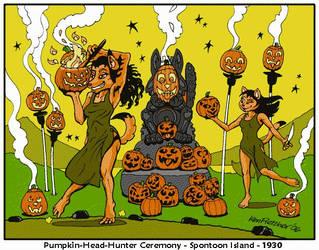 Pumpkin-Head-Hunter Ceremony, Spontoon Island 1930 by KenFletcher