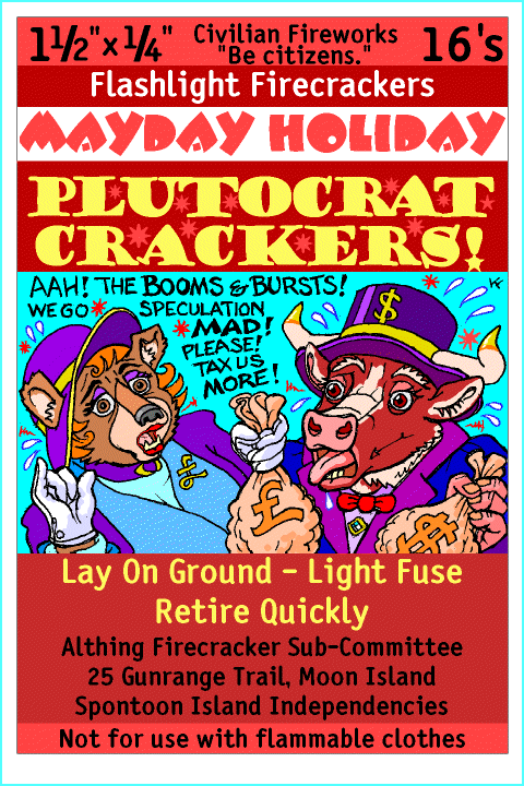 Label firecrackers [Plutocrat Crackers!] by KenFletcher