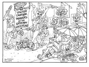May Day parade 1935 -cartooners union Spontoon Is.