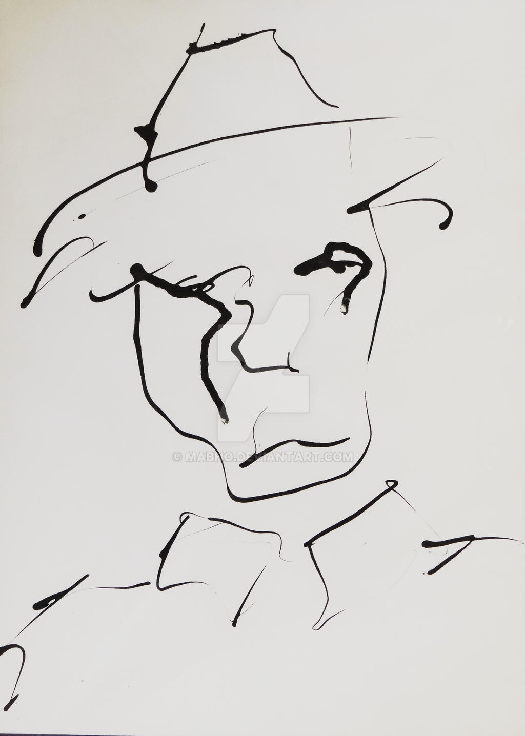 Man with a hat by mabho