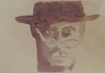 Man in glasses and hat by mabho
