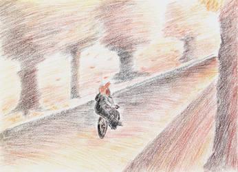 Riding pillion