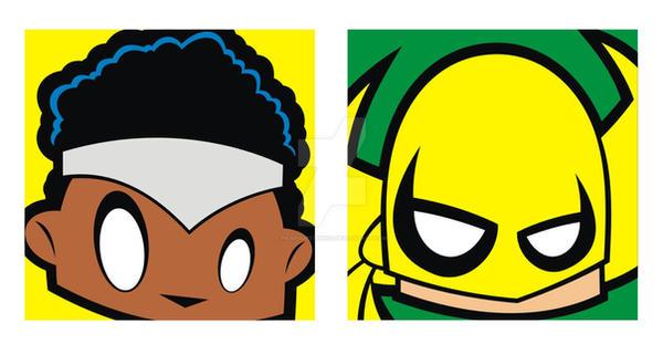 Iron Fist Luke Cage Sq Faces by HeadsUpStudios
