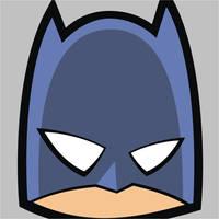 Batman Square Face by HeadsUpStudios