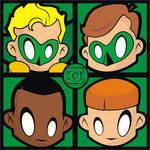 Green Lantern Pop Art Tile